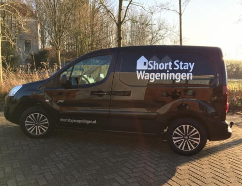 Autobelettering- Short Stay Wageningen