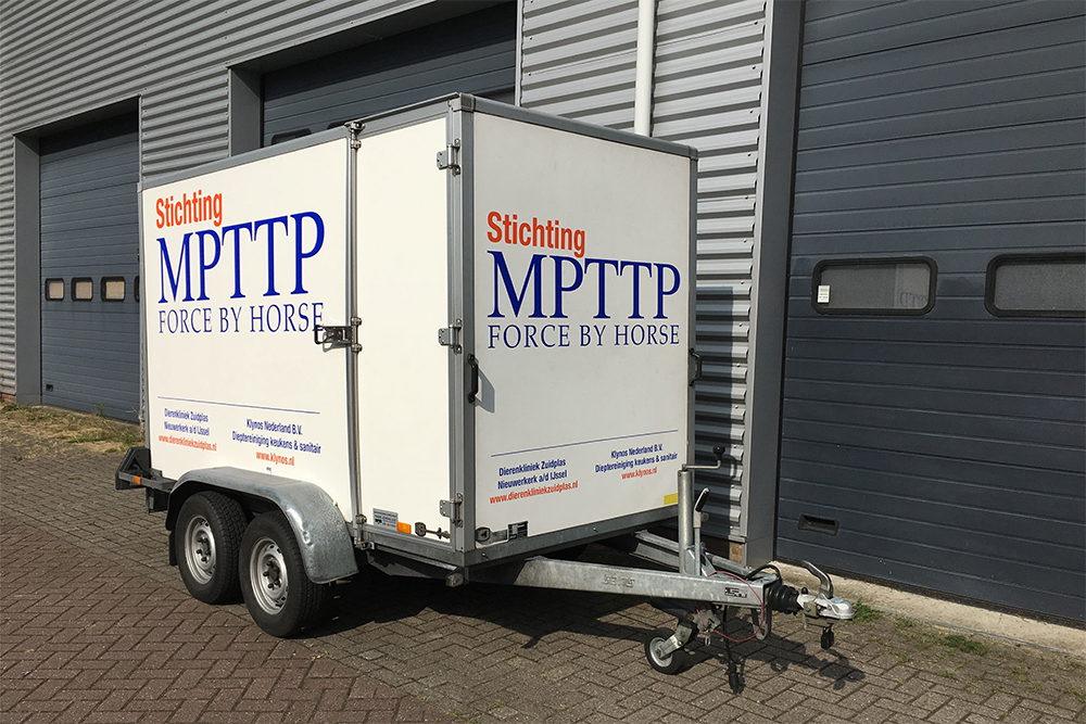 Belettering aanhanger MPTTP
