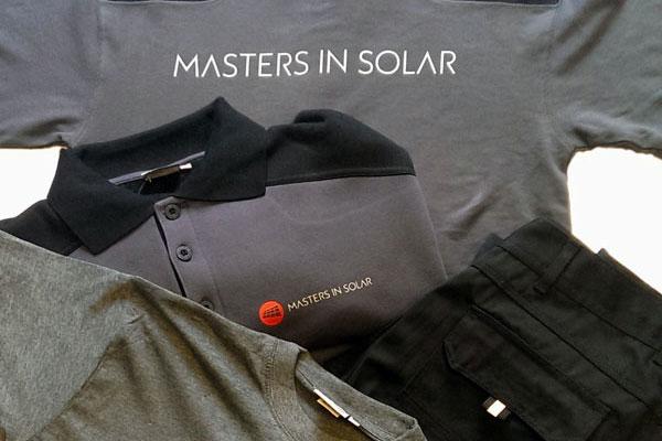 Bedrijfskleding Masters In Solar