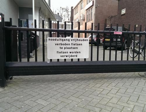 Verkeersbord verboden fietsen