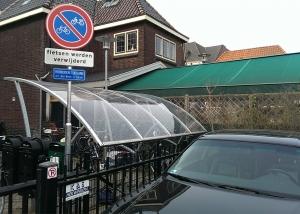 Verboden fietsen verkeersbord