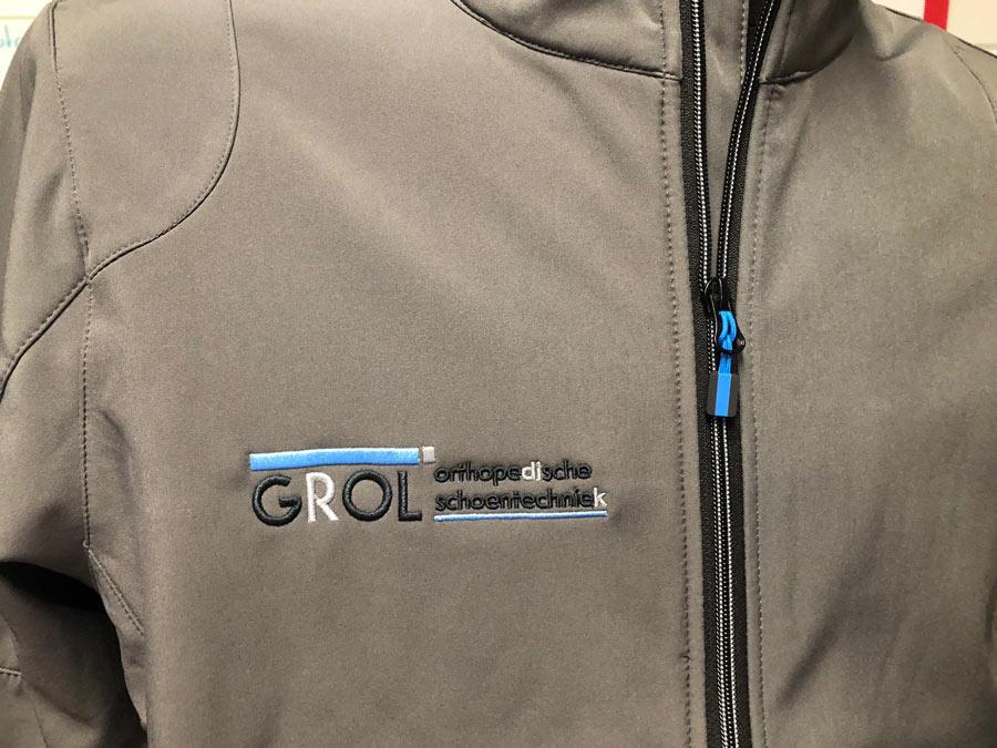 Softshell jas borduren met logo